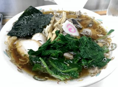 チャーシュー麺+ほうれん草